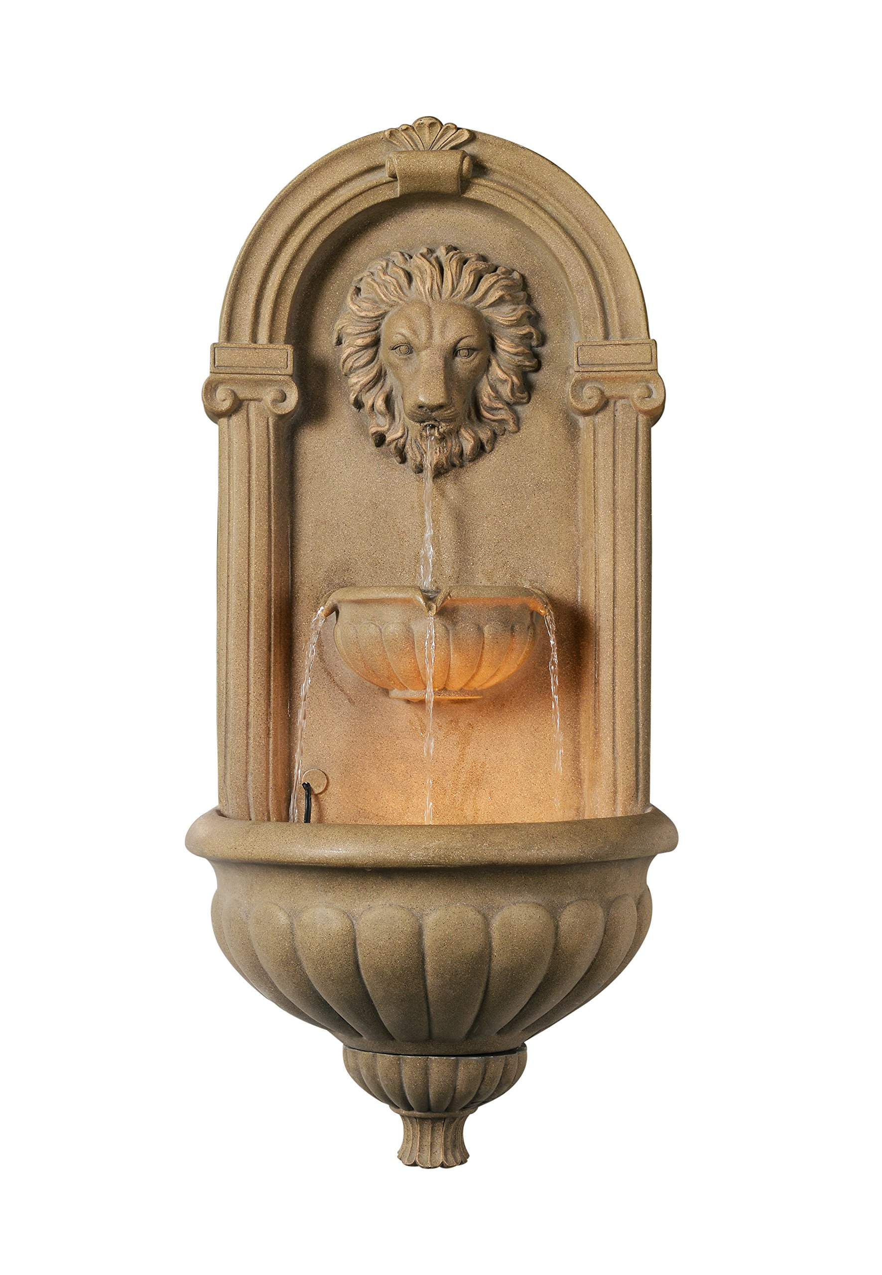 Kenroy Home 50026COQN Regal Wall Fountain, Coquina Finish