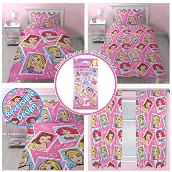 Disney Princess Brave UK Single/US Twin Rotary Duvet Set + Matching Curtains 66 x