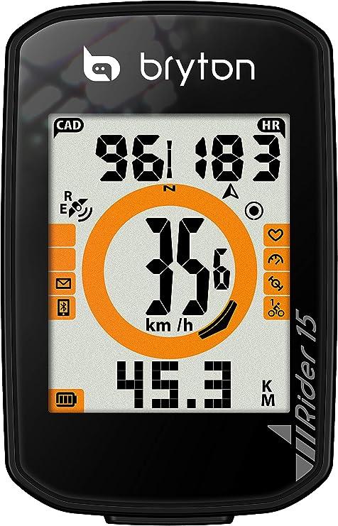 Bryton GPS Rider 15 E CICLOCOMPUTADOR, Unisex Adulto, Negro, Talla ...