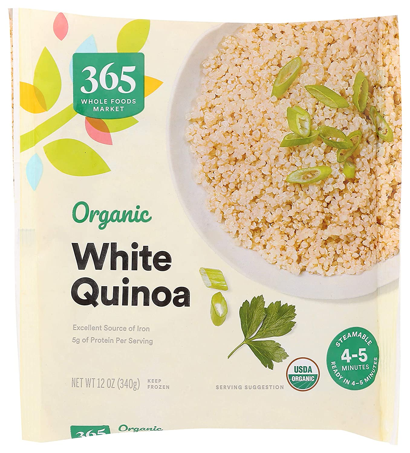 365 by Whole Foods Market, Frozen Organic Quinoa, White, 12 Ounce