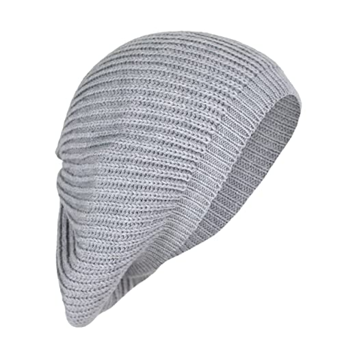 4ddd3691ebc3 Amazon.com: Elliott and Oliver Co. Cute Boho Cable Ribbed Knit Slouch Beret  Cap- Chic Slouchy Beanie Winter Hat (Gray): Home & Kitchen