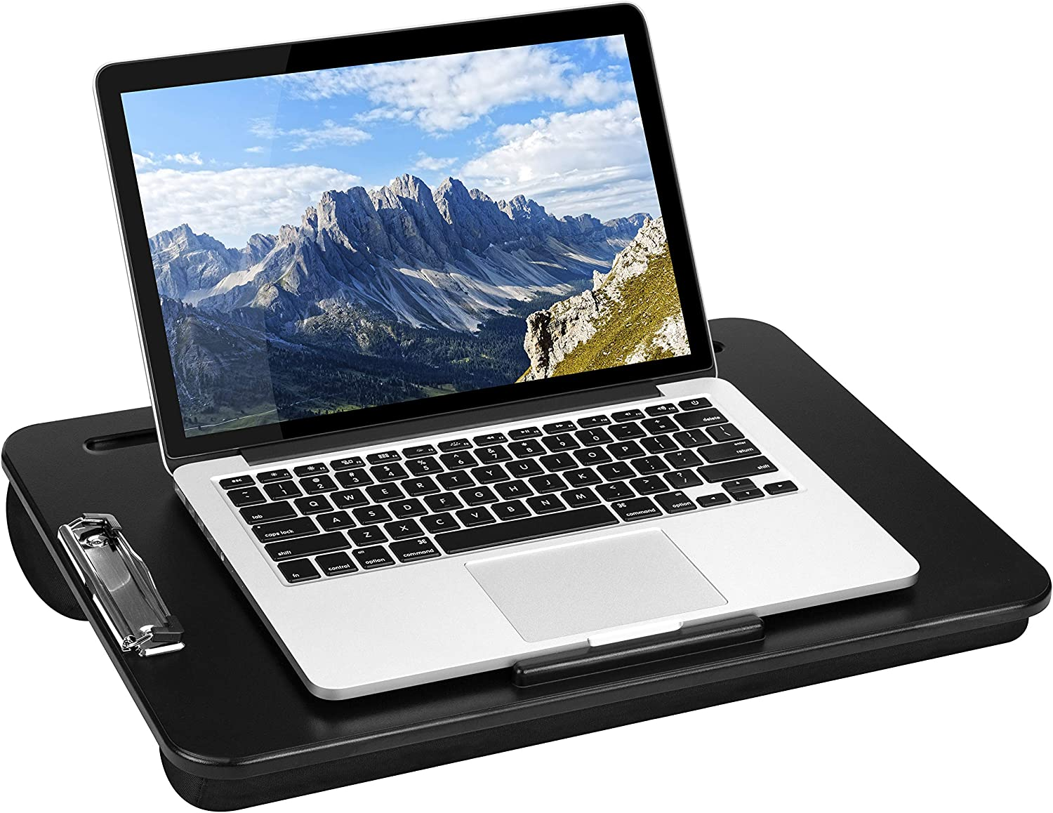 LapGear Clipboard Lap Desk - Black - Fits Up to 15.6 Inch Laptops - Style No. 45138