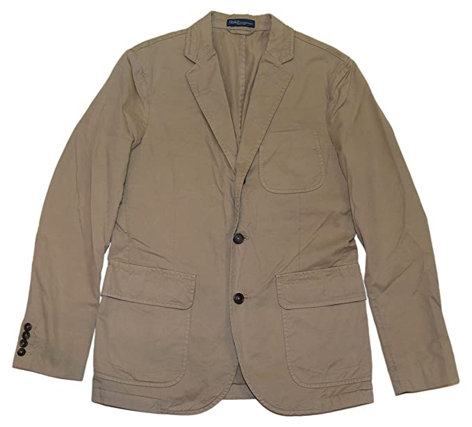 425bc4683f1ee6 Image Unavailable. Image not available for. Color  Ralph Lauren Polo Men  Pima Cotton Blazer Sport Coat Jacket Khaki ...