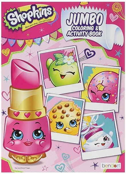 Amazon.com: Shopkins Coloring Book 96pq [Contains 3 ...