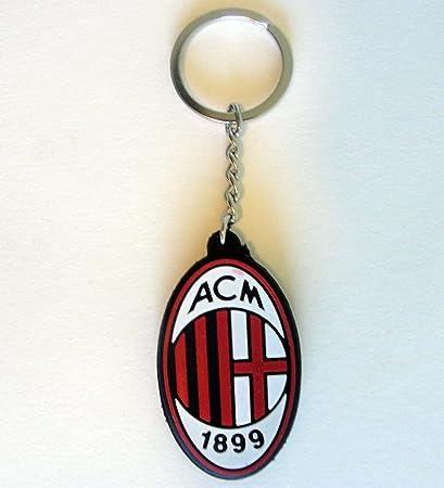 AC Milán (Italia) de goma logotipo de balón de fútbol ...
