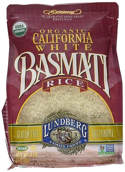 Lundberg California White Basmati Rice, 4 Pounds, Organic