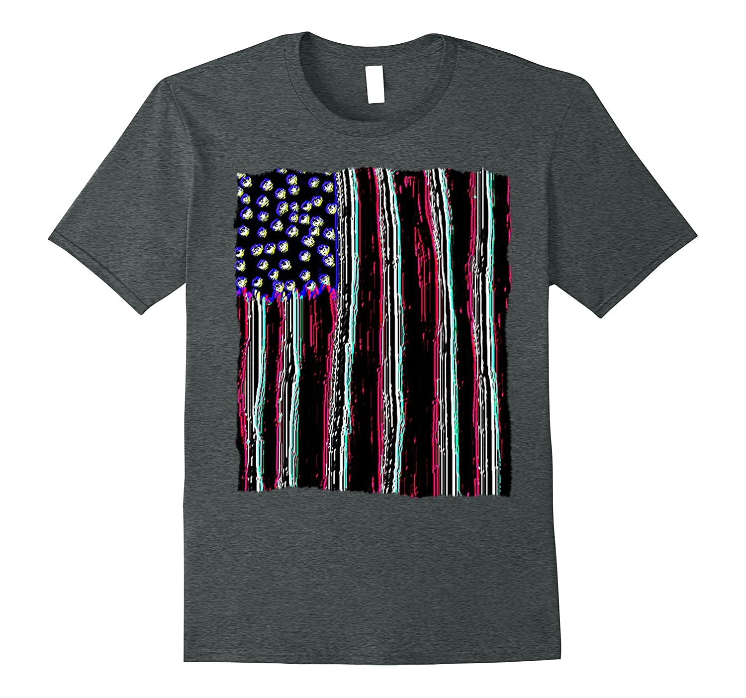 American Flag - Abstract Neon Graphic T-shirt-PL