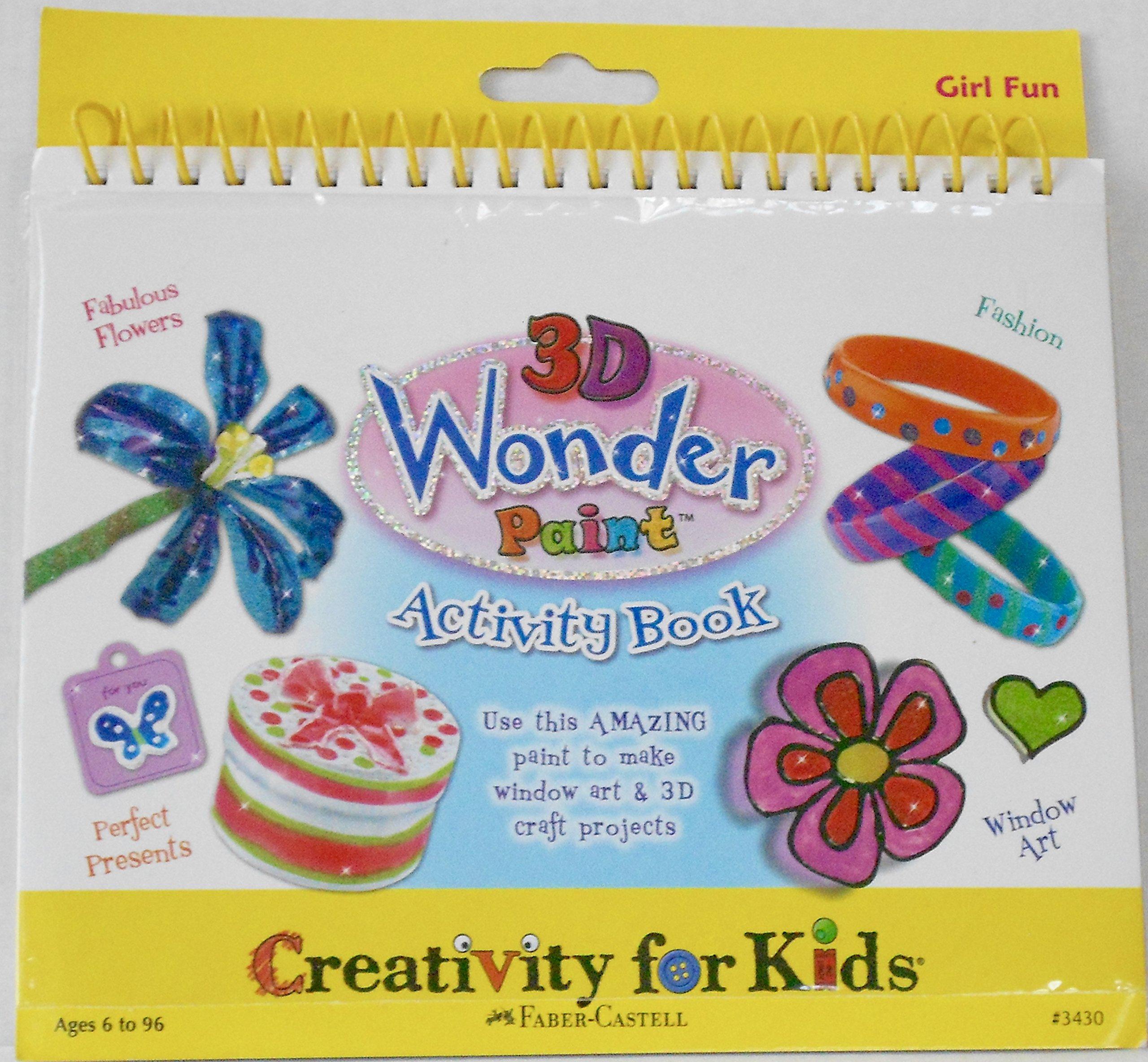 Creativity for Kids 3D Wonder Paint Activity Book - GIRL FUN: Faber