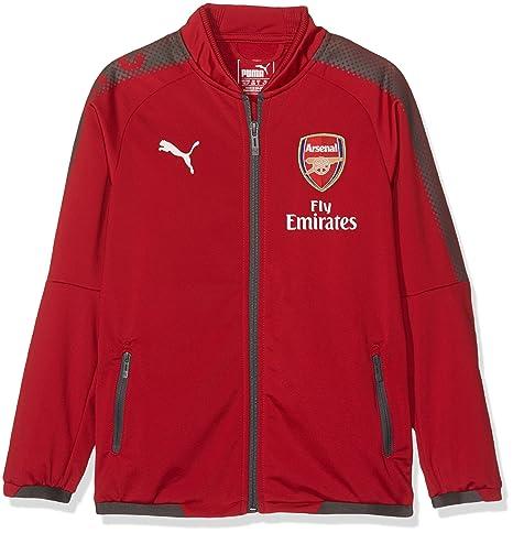 11af1112c Amazon.com : PUMA Arsenal Kids Stadium Jacket 2017/18 (Red)-7-8 ...