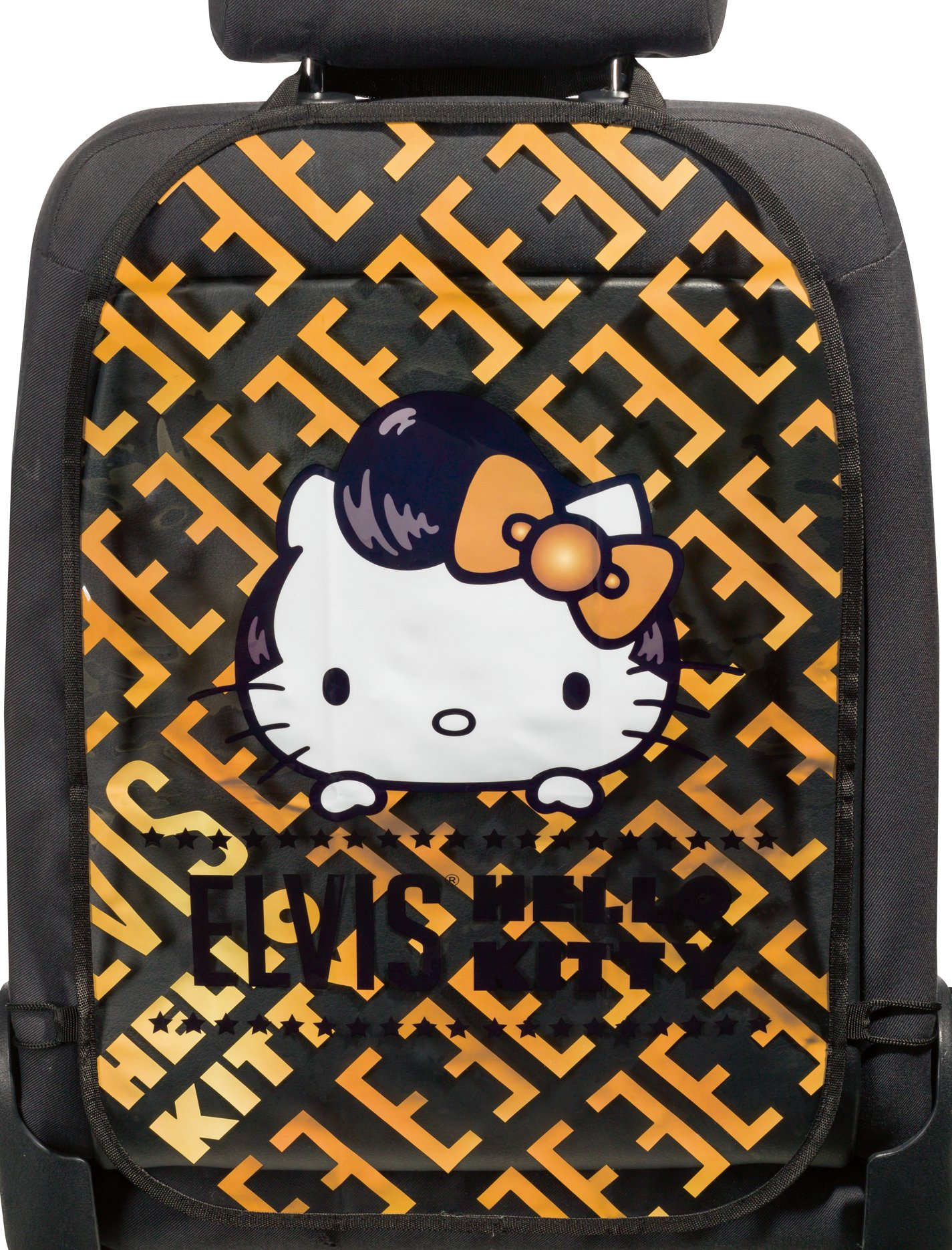 Walser 25019 Elvis Hello Kitty Seat Back Protector, Black