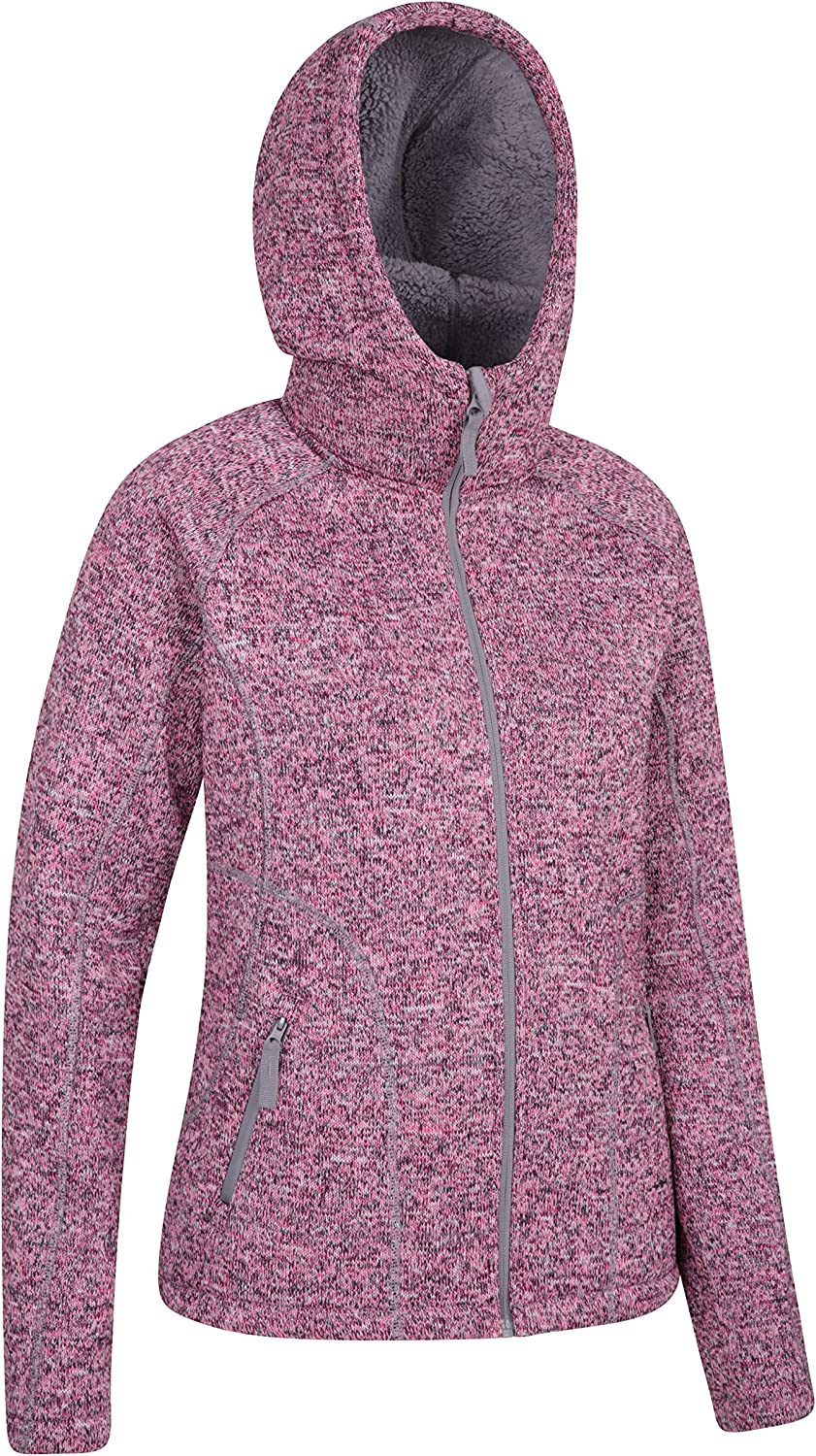 Mountain Warehouse Nevis Pelzgefütterter Damen-Kapuzenpulli, Winter Rosa