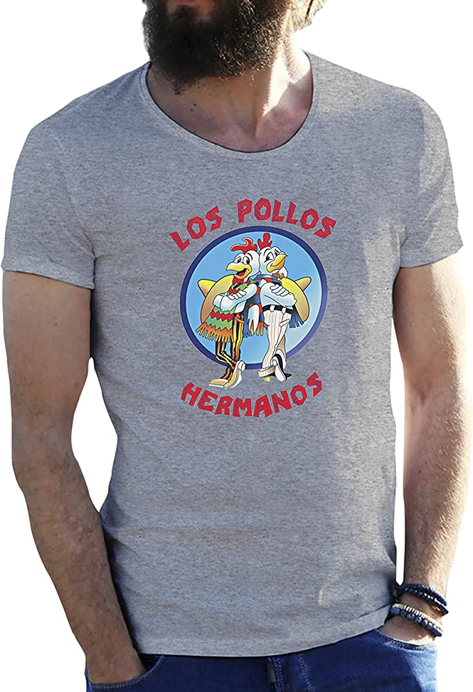 KoalaCovers Los Pollos Hermanos Gris Camiseta para Hombre X Large: Amazon.es: Ropa y accesorios