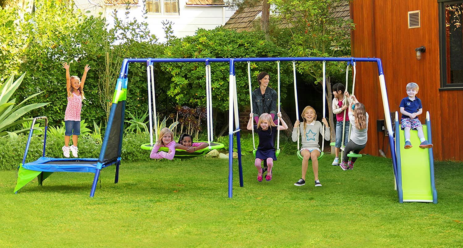 Sportspower Mountain View Metal Swing Set