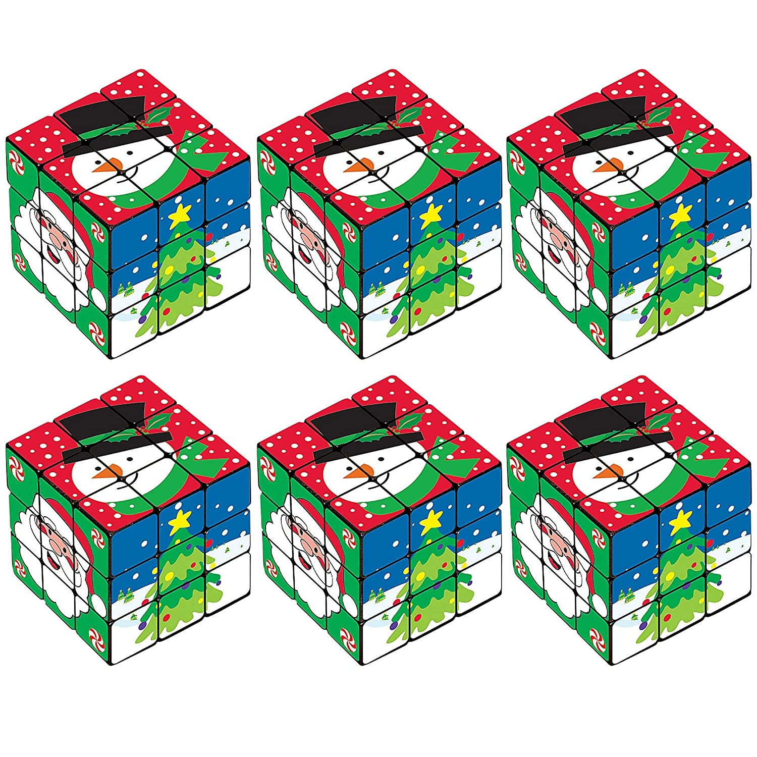 Christmas Puzzle Cube 6ct