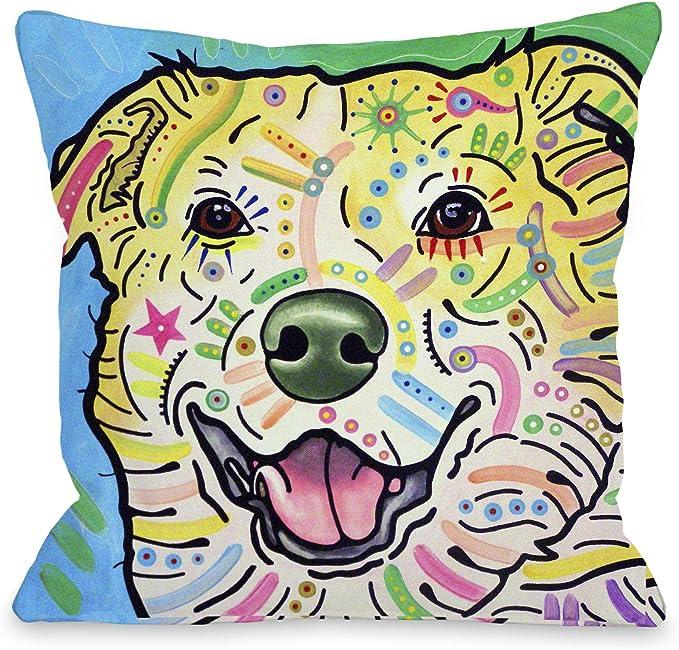 Amazon Com One Bella Casa Maude Throw Pillow By Dean Russo 18 X 18 Multi Home Kitchen
