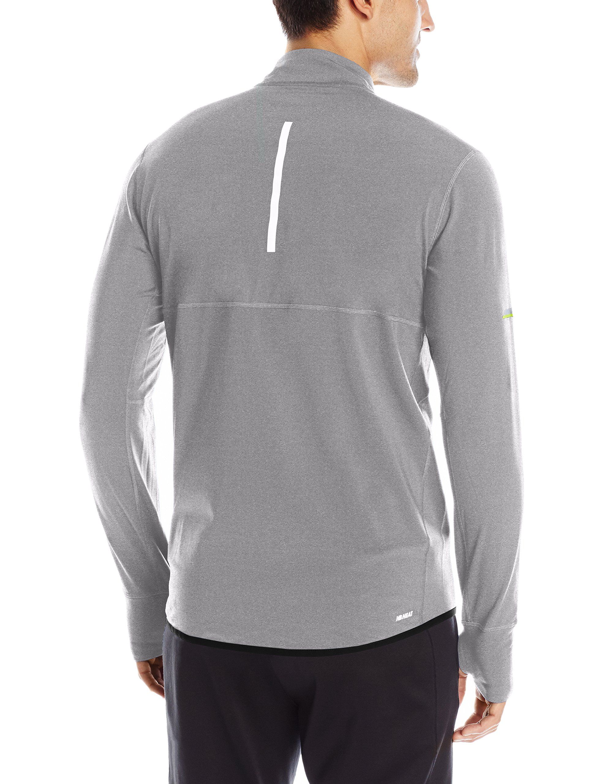 New Balance Men's Heat Half Zip Jacket, Athletic Grey, Small by New Balance (Image #2)