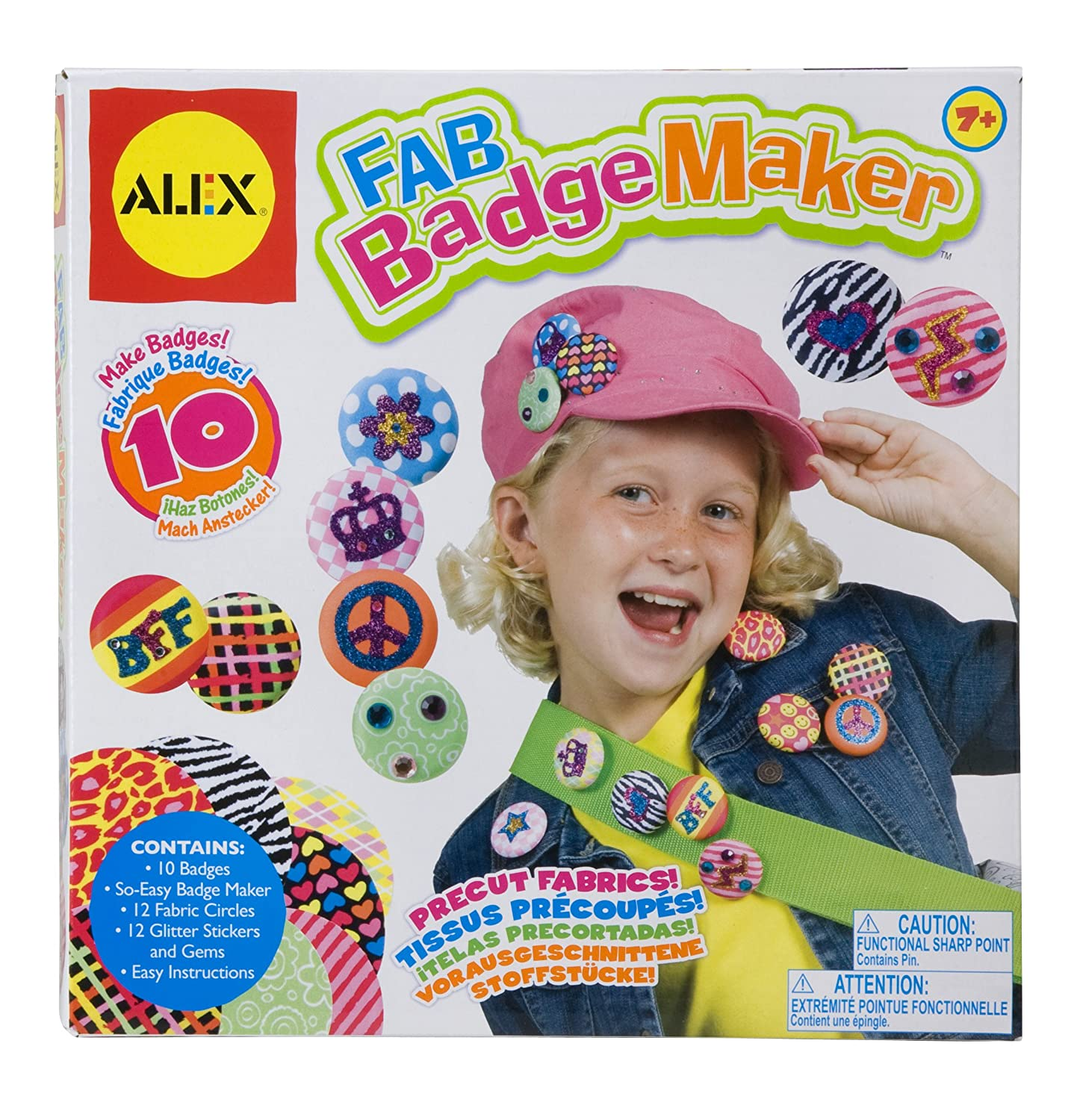 Amazon ALEX Toys Craft Fab Badge Maker Toys & Games