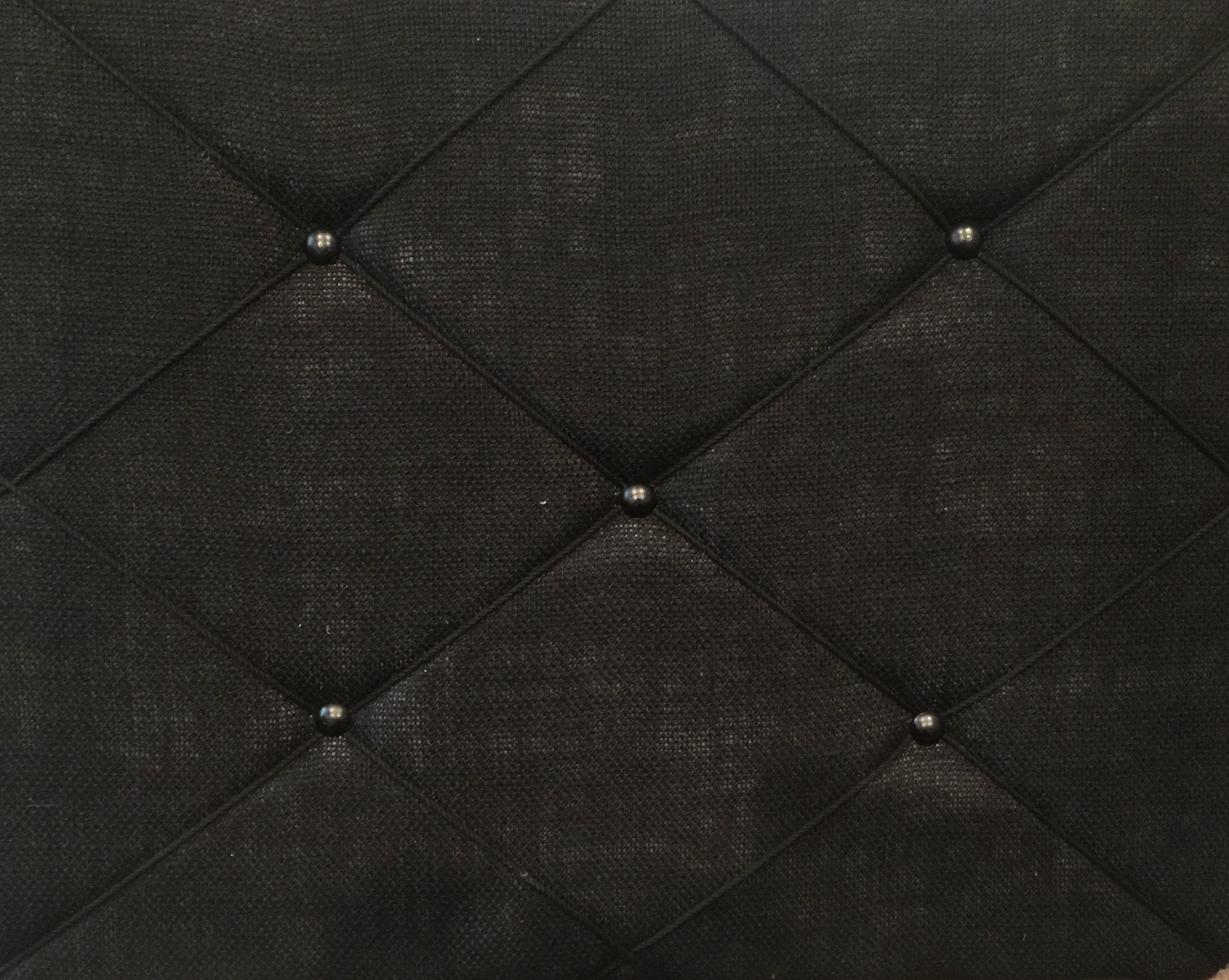 ReLIVE Burlap Covered Bulletin Picture Board with Crisscross Twine, 19.75 x 15.75, Black
