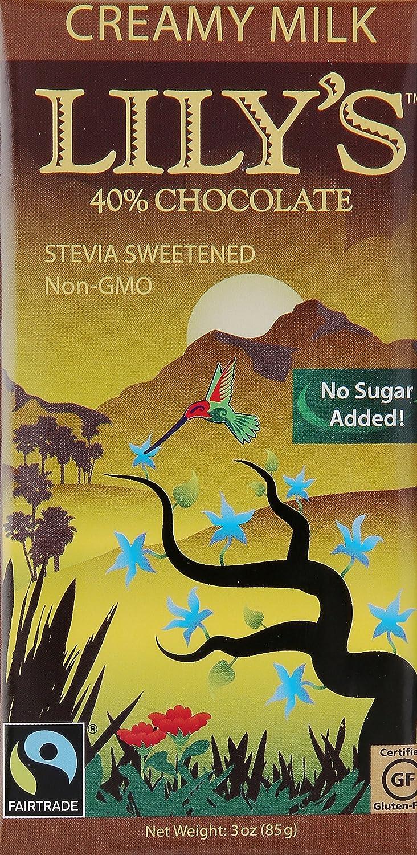 Amazon.com : Lilly's Sweets Chocolate Bar Milk Creamy, 3 oz ...