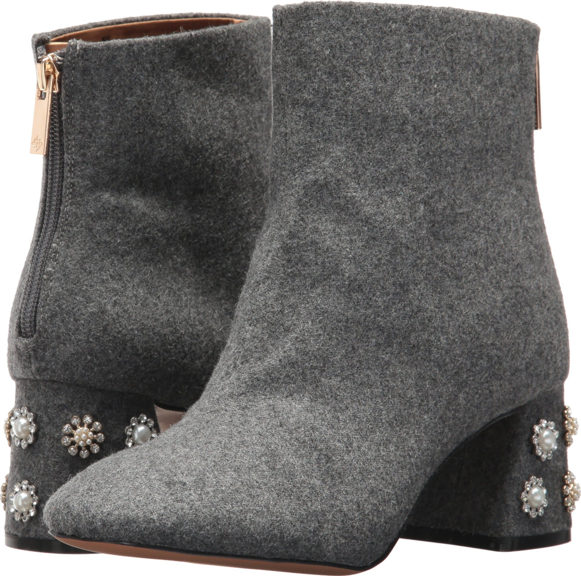 Nanette Lepore Women's Rose Fashion Boot, Grey, 7.5 M US