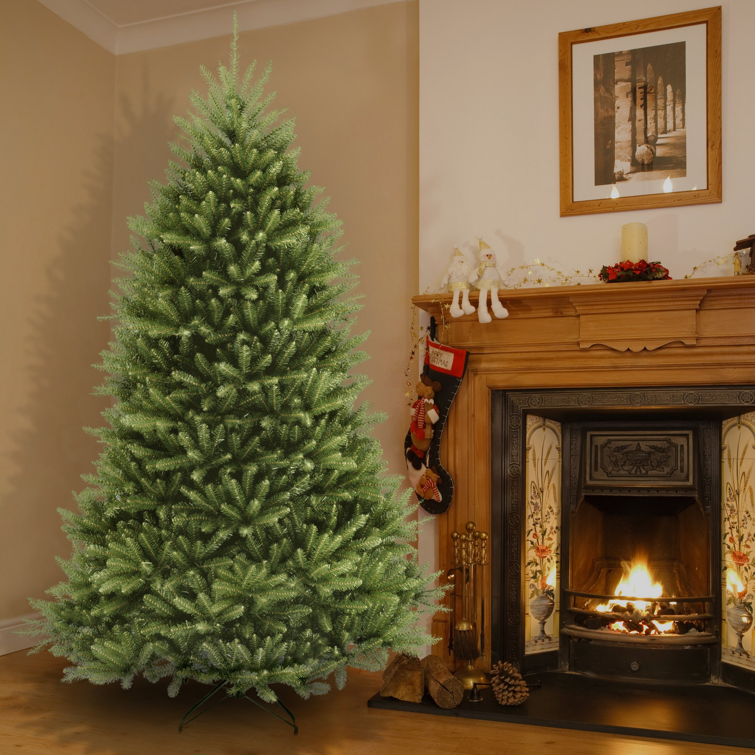 National Tree 7.5 Foot Dunhill Fir Christmas Tree, Hinged (DUH-75) by National Tree Company (Image #2)