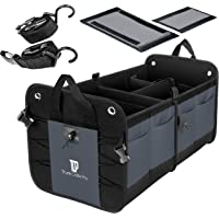 $44 » TRUNKCRATEPRO Collapsible Portable Multi Compartments Trunk Organizer, Gray