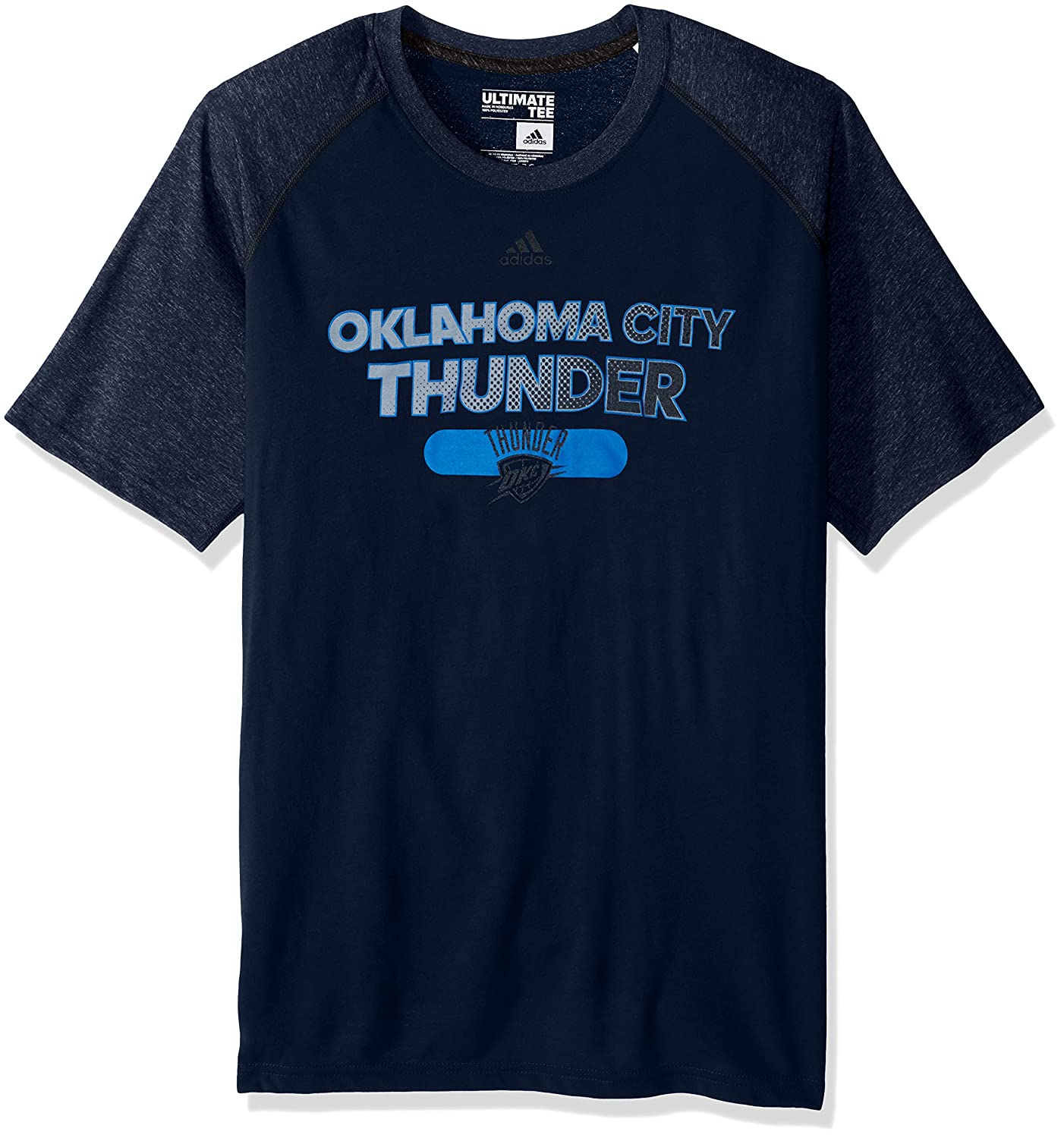 Navy NBA Oklahoma City Thunder Adult Men Reflective Authentic Climate Ultimate S//Tee Large
