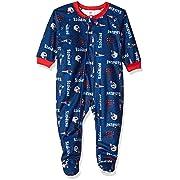 Gerber Childrenswear NFL England Patriots Boys 2018Blanket Sleeper, Blue, 6 Months