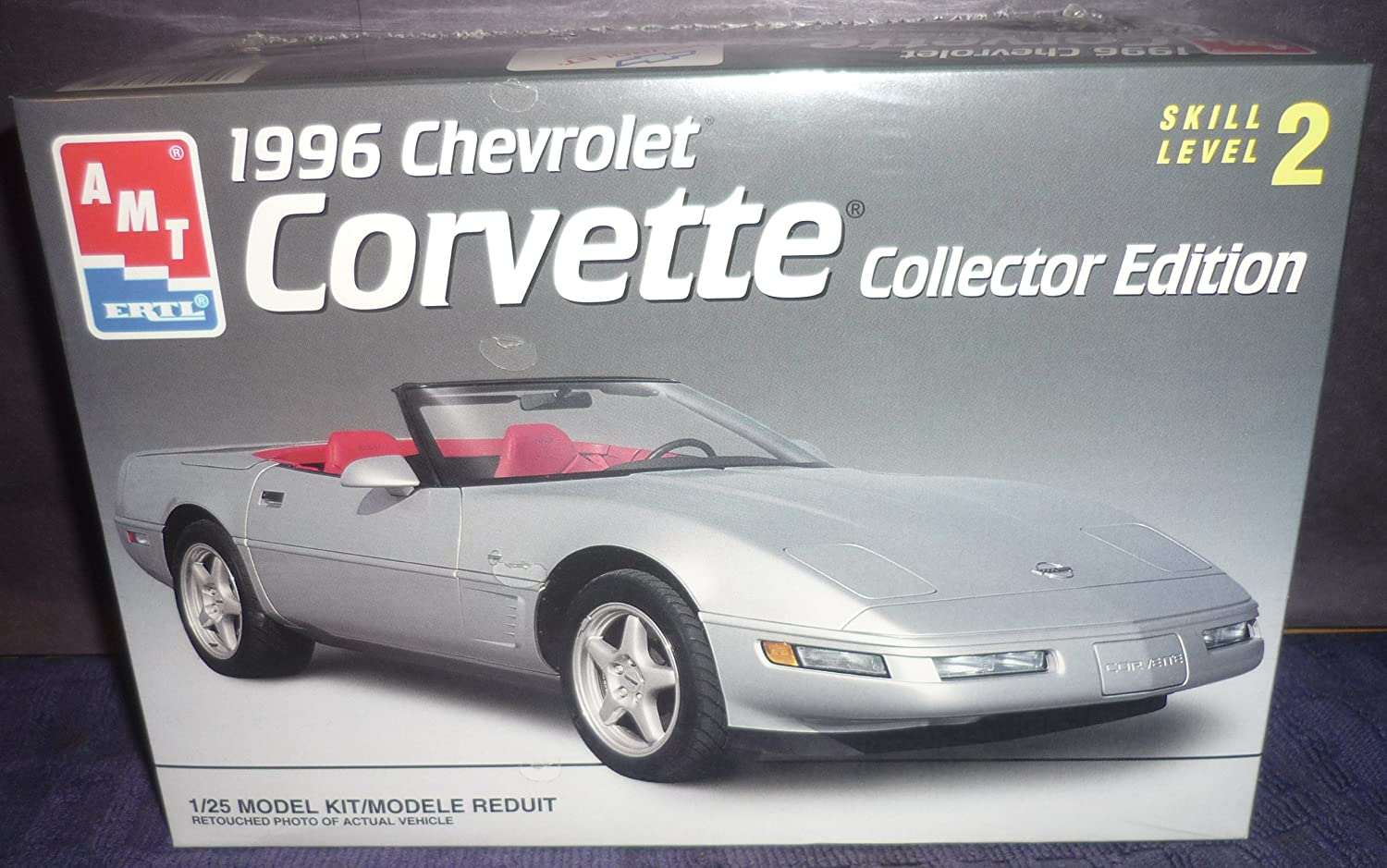 8031 AMT  Ertl 1996 Chevrolet Corvette Collector Edition 1 25 Scale Plastic Model Kit,Needs Assembly by AMT Ertl