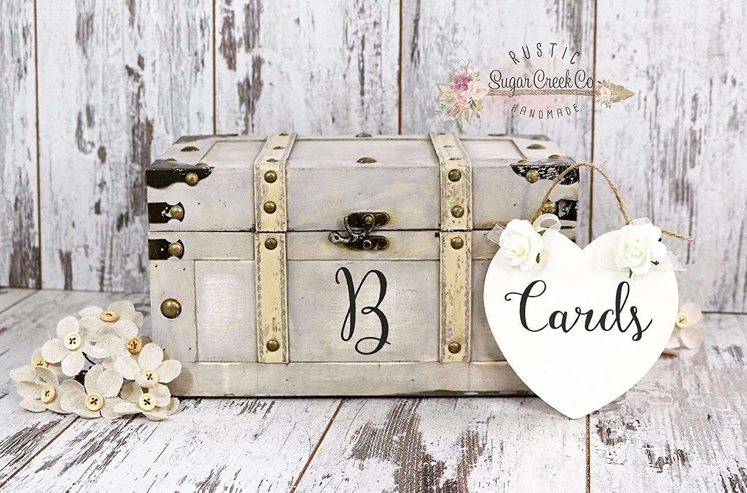 Personalized Wedding Card Box Personalized Vintage Card Trunk