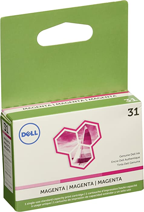 Dell (Series 31) Single Use Magenta Ink Cartridge (OEM# 331-7690) (200 Yield)