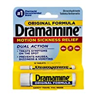 Dramamine Original Formula Motion Sickness Relief, 12 Count,  Pack of 6