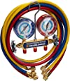 """Yellow Jacket 42006 Series 41 Manifold with 3-1/8"""" Gauge, psi, R-22/134A/404A"""