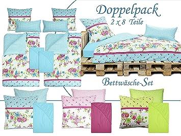 Doppelpack Zum Sparpreis 8 Teilige Bettwäsche Sets Athene Je 2