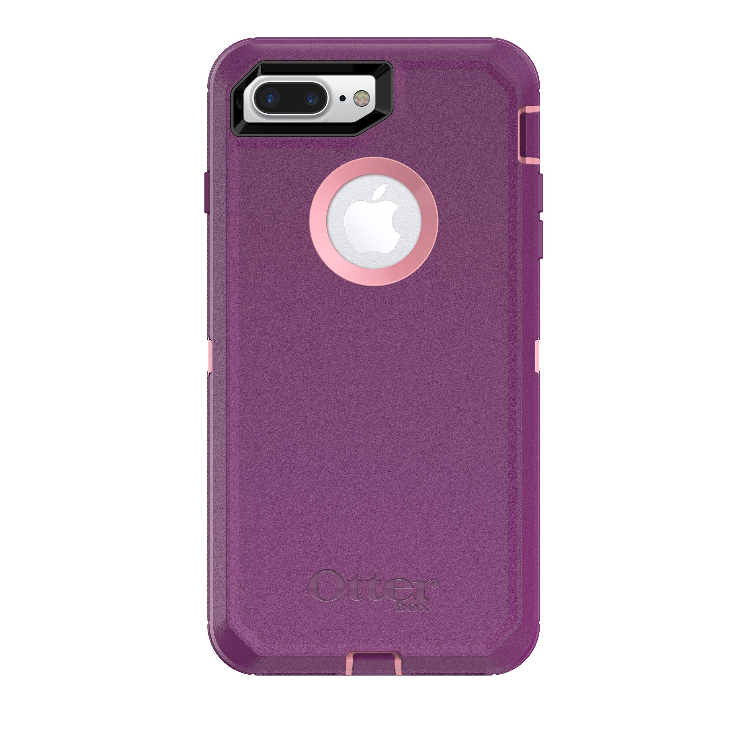 OtterBox Defender Series Case for iPhone 8 Plus & iPhone 7 Plus (ONLY) - Vinyasa (Rosmarine/Plum Haze)
