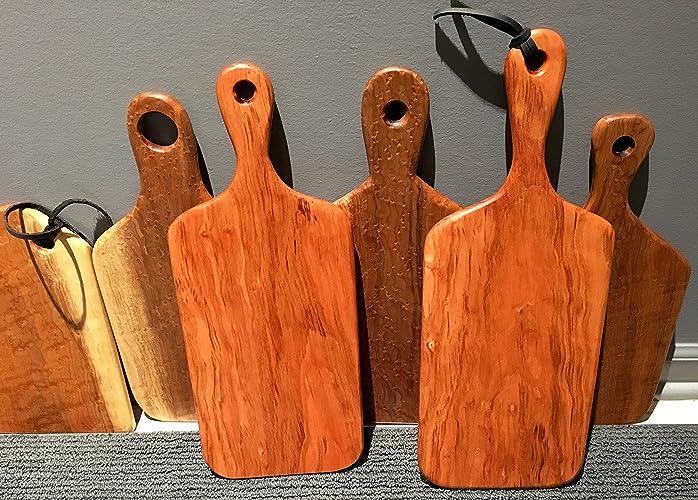 Amazoncom Cutting Board With Handle Wood Cutting Board Serving