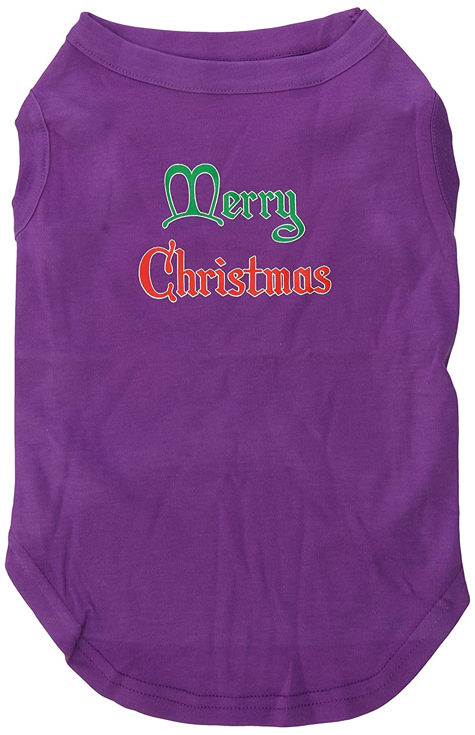 Dog   Cat   Pet Charms Merry Christmas Screen Print Shirt Purple XL (16)