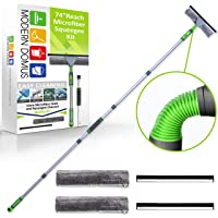 Modern Domus Window Squeegee Cleaning Kit - 74 inch Long Handle Squeegee Window Washing Kit with Flexible Head - 2 in 1…