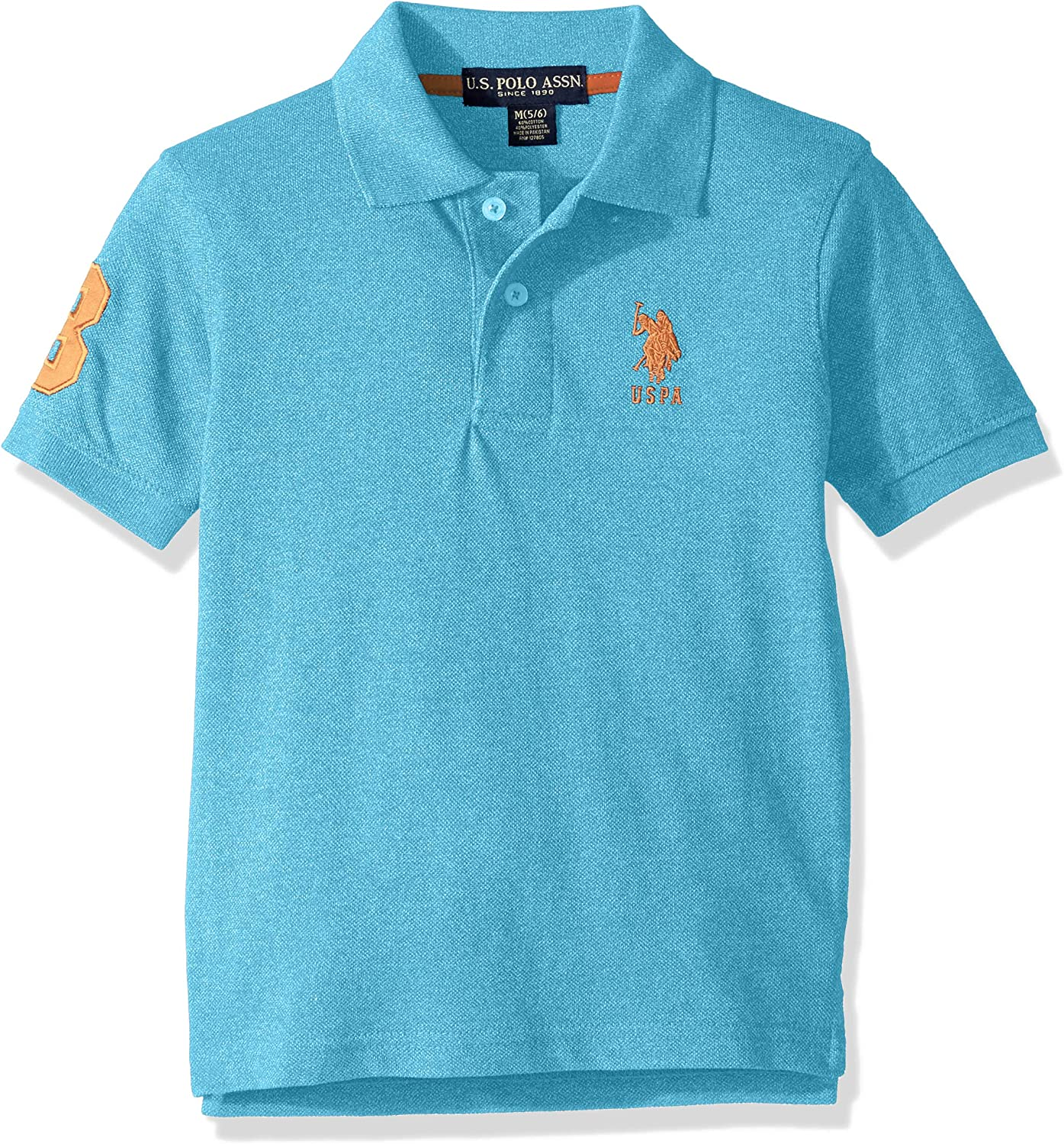 U.S Boys Short Sleeve Marled Pique Polo Shirt Polo Assn