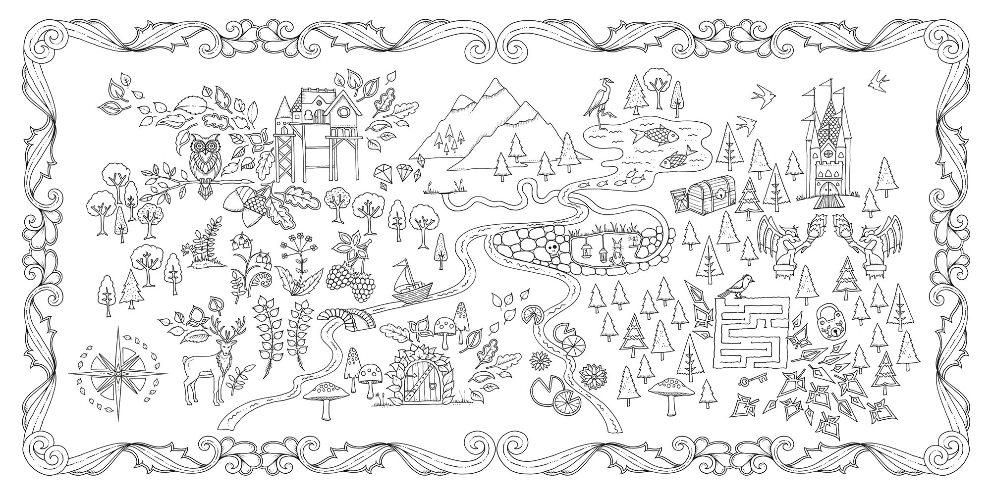 Amazoncom Enchanted Forest An Inky Quest Coloring Book