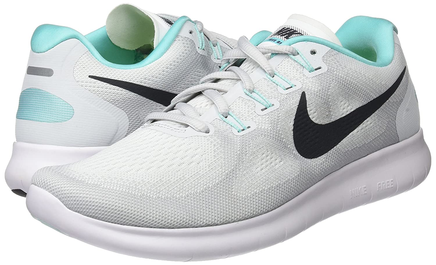 nike  's free de rn 2017 chaussure de free course blanc / anthracite / platine nous taille 6,5 m ac90fe