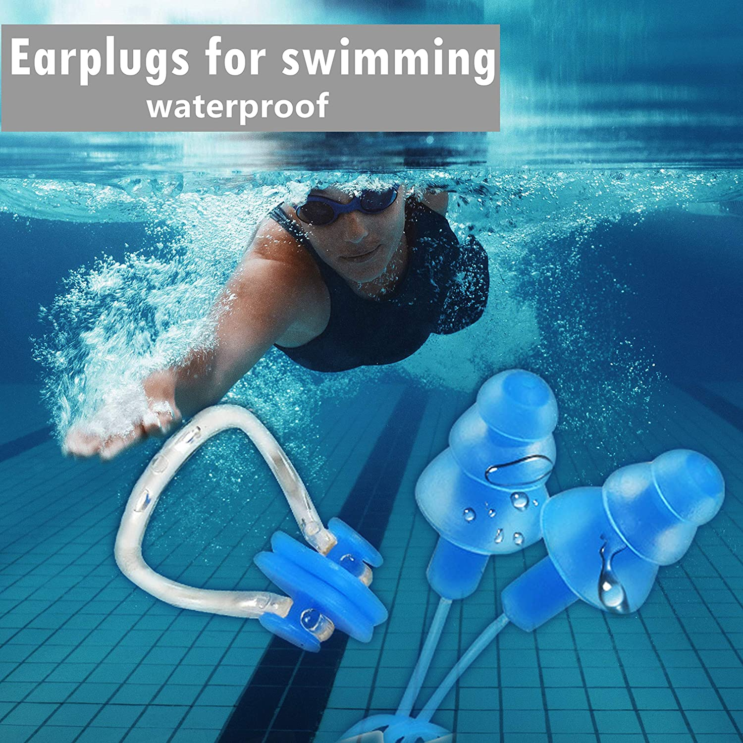 Crimmy Soft Silicone Earplugs Protection from Loud Sounds 2 Pairs Noise Cancelling Reusable Earplugs for Sleeping