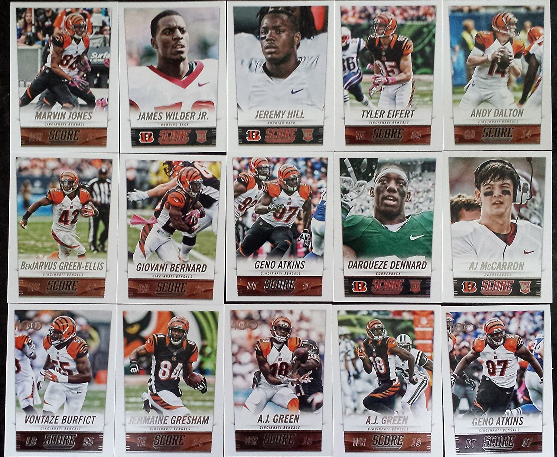 8f348c39a 2014 Score Football Cincinnati Bengals Team Set In a Protective Case - 15  Cards Including A.J. Green (2)