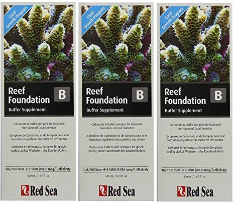 (3 Packs) Red Sea Fish Pharm ARE22023 Reef Foundation Buffer Supplement-B for