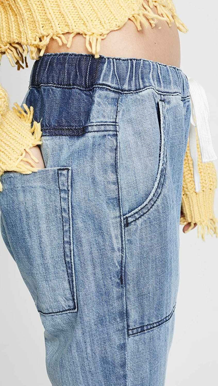 9f3ee2dc4db Amazon.com: One Teaspoon Women's Shabbies Drawstring Boyfriend Jeans,  Original Blue, Medium: Clothing