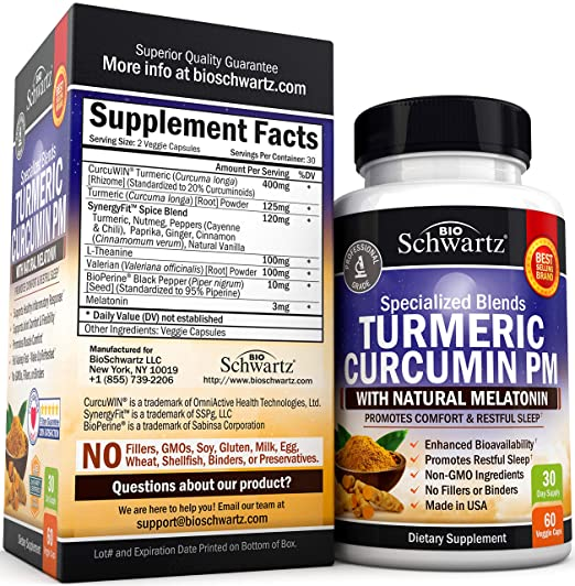 Amazon.com: Turmeric Curcumin Sleep Aid with Melatonin - Natural Sleeping Pills with Valerian Root & L Theanine for Insomnia - Promotes Relaxation & Restful ...