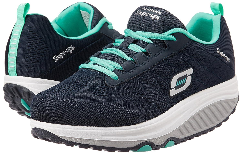 Skechers Women's Shape Ups 2.0 Fashion Sneaker B00SDD0TKC 8 B(M) US|Navy/Turquoise