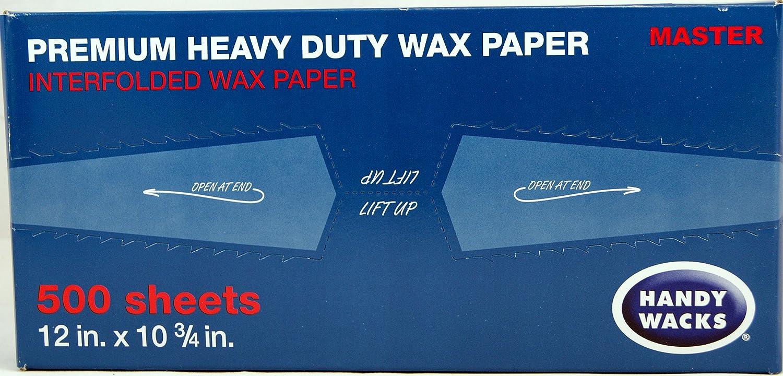 "Wax Paper Premium Heavy Duty Handy Wacks 12"" X 10 3/4"" 1 Box of 500"