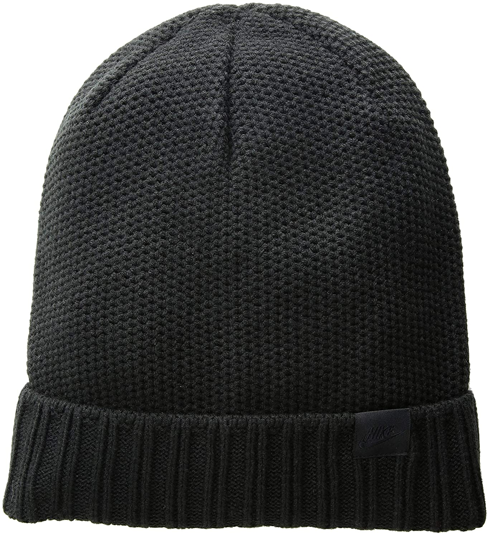 Amazon.com  Nike Unisex Honeycomb POM Knit Beanie Black Black 925417-010   Clothing 483ddbee8c73