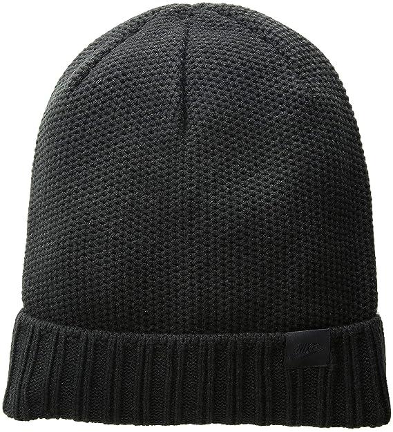 Amazon.com  Nike Unisex Honeycomb POM Knit Beanie Black Black 925417 ... e7508b40dc08